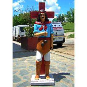Escultura De Gauchito Gil En Telgopor De Alta Densidad 1,60m