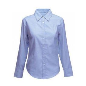 Camisa Dama Oxford, Ref. Manga Larga