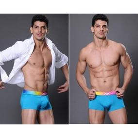 Boxer Sexy Elastico Grueso Hombre Azul Talla G