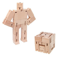 Juguete Decorativo De Madera Cubebot Micro