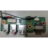 Placa Conector Usb + Fone De Ouvido Notebook Positivo