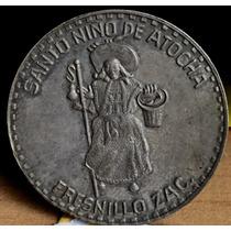 Medalla Niño Atocha Fresnillo Zacatecas Plata 1954 Escasa