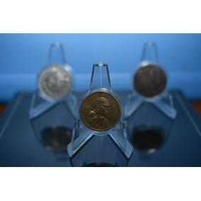 Pedestal Exhibidor Para Moneda, Marca Pccb, Lote 10 Piezas