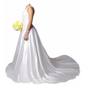 Vestido De Noiva Com Cauda Partylight Atelier Das Noivas