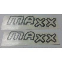 Par Emblema Adesivo Maxx Celta Corsa Prisma Grafite Vazado