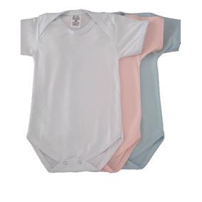 Body Infantil Bebê Liso 100% Algodão Kit C/ 12 Peças Atacado