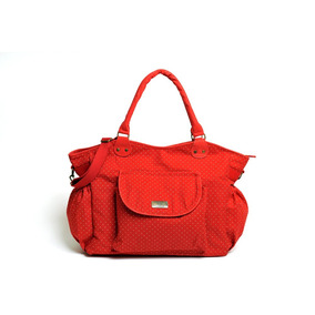 Bolso Maternal Gabardina Happy Little Moments Lola Rojo