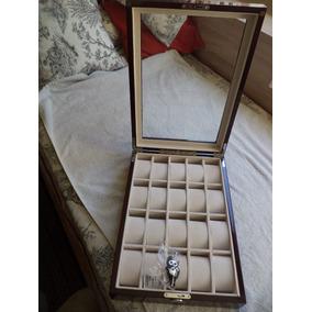 Finisima Caja/estuche Lacada Cerezo Guardar 20 Relojes