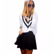 Blusa De Frio Feminina De Lã Trico Tricot Cardigan