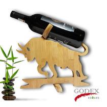 Porta Vinos De Bambú Para Decorar Mesa O Cantina