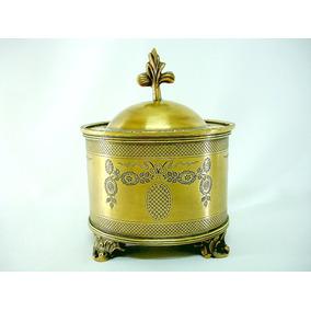 Potiche Pote Porta Objeto Fino Bronze Italiano Belo Séc Xlx