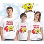 Lembrança De Aniversario Bob Esponja Camiseta Kit Com 3