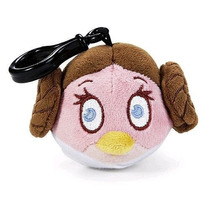 Chaveiro Angry Birds Star Wars Pelucia Princesa Leia