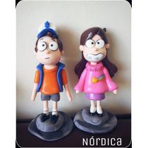 Gravity Falls Dipper Y Mabel Porcelana Fria
