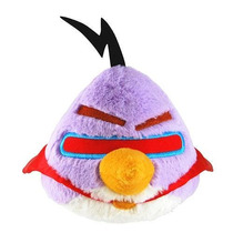 Angry Birds Space Roxo Pelúcia 12cm Licenciado Commonwealth