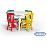 Conjunto De Mesa E Cadeiras Infantil Para Escolinha / Estudo