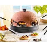 Forno Elétrico Assar Pizza Na Pedra Tampa Ceramica 110/220 V