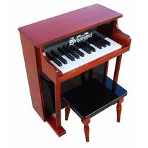 Piano Para Niños 25 Teclas Con Banco Color Madera