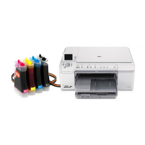 Bulk Ink Para Impressora Hp C5580 Com Presilhas Especiais
