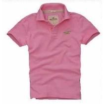Kit 5 Camisa Camiseta Gola Polo Masculina Hollister