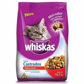 Ração Whiskas Carne Para Gatos Castrados 10kg