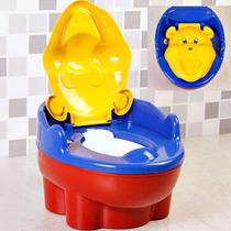 Troninho Infantil Pinico Musical 2 Em 1 Urso Vermelho