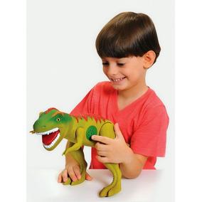 Boneco Dinossauro Tirano Rex Som Adijomar Brinquedos