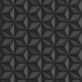 papel muresco allegra retro moderno negro