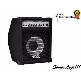 Cubo Amplificador Contra Baixo 100w Rms Master Audio Bx100