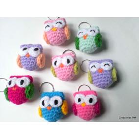 Llaveros De Lechucitas Tejidas A Crochet. Regalos, Souvenirs