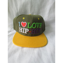 Gorra I Love Hip Hop Plana Unitalla Ajustable