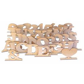 Letras Decorativa Mdf Crú Compre 10 E Leve 12 (0,83 Cada)