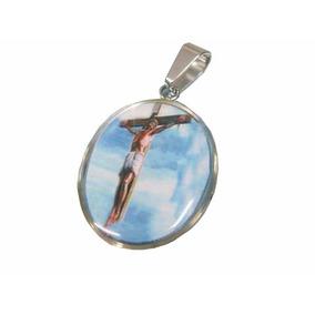 Medalla Religiosa De Acero Jesús Crucificado