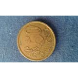 Moneda De España De 50 Cent De Euro Del 2000 { Vf }