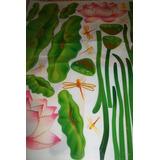 Calcomania Sticker Para Decorar Flores Girasol Y Otros