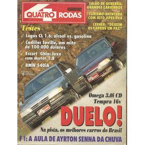 Quatro Rodas 394 Omega 3.0i Cd Tempra 16v Logus Seville Esco