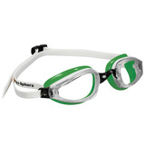 Óculos Michael Phelps K180 Branco/verde - Lente Transparen