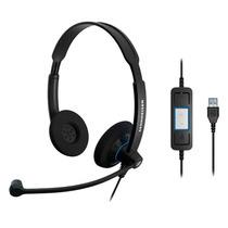Headset Profissional C/ Microfone Sennheiser Sc60usb S/frete