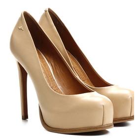 Sapato Salto Scarpin 13cm Ellus Deluxe Nude Nº36