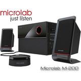 Caixas Sub Woofer 2.1ch Microlab M200 40w Rms Retira Sp