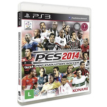 Pes 2014 Br Futebol Português Ps3 Midia Fisica Blu-ray Cd