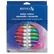 Acuarelas Reeves X 24 Colores En Pomos De 10 Ml.