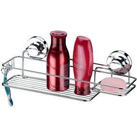 Suporte Para Shampoo Sabonete Com Ventosa Banheiro Cromado