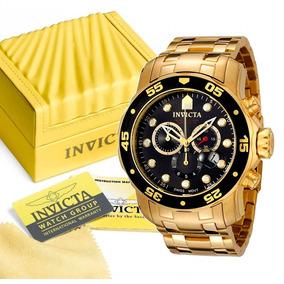 cb142dc59fd Relogio Invicta Pro Dive 0072 Banho Ouro 18k Com Garantia
