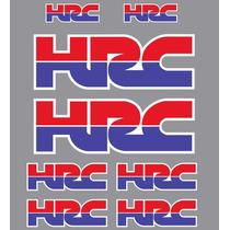 Adesivo Hrc Honda Racing Corporation Carenagem Moto Kit 8 Un