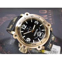 Relógio Invicta Russian Diver Plaque Ouro Vintage 7276