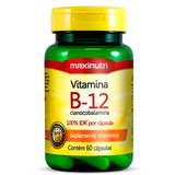 Vitamina B12 60 Cápsulas Maxinutri # Cianocobalamina