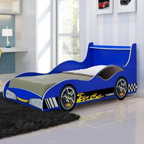 Cama Infantil Solteiro Carro Tuning - Azul