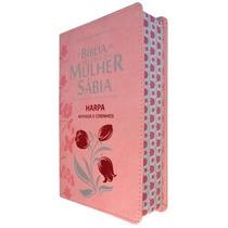 Bíblia De Estudo Da Mulher Sábia + Harpa Borda Florida