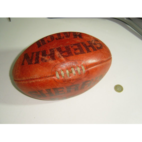 Antiguo Balon De Futbol Americano Football En Cuero Afl